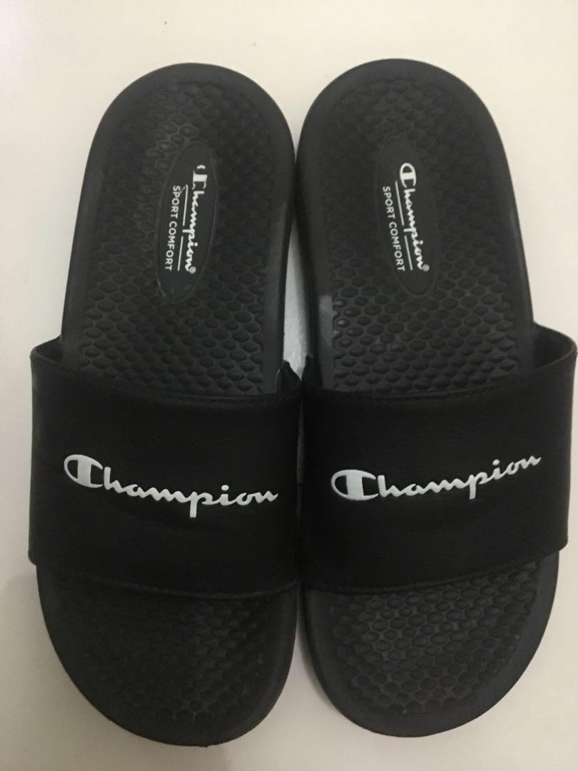 Champion sandal slip on, Fesyen Wanita