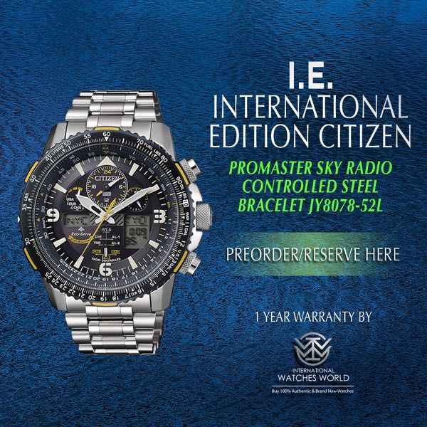 72d60469b7c CITIZEN INTERNATIONAL EDITION PROMASTER SKY BLUE ANGELS PERPETUAL ...