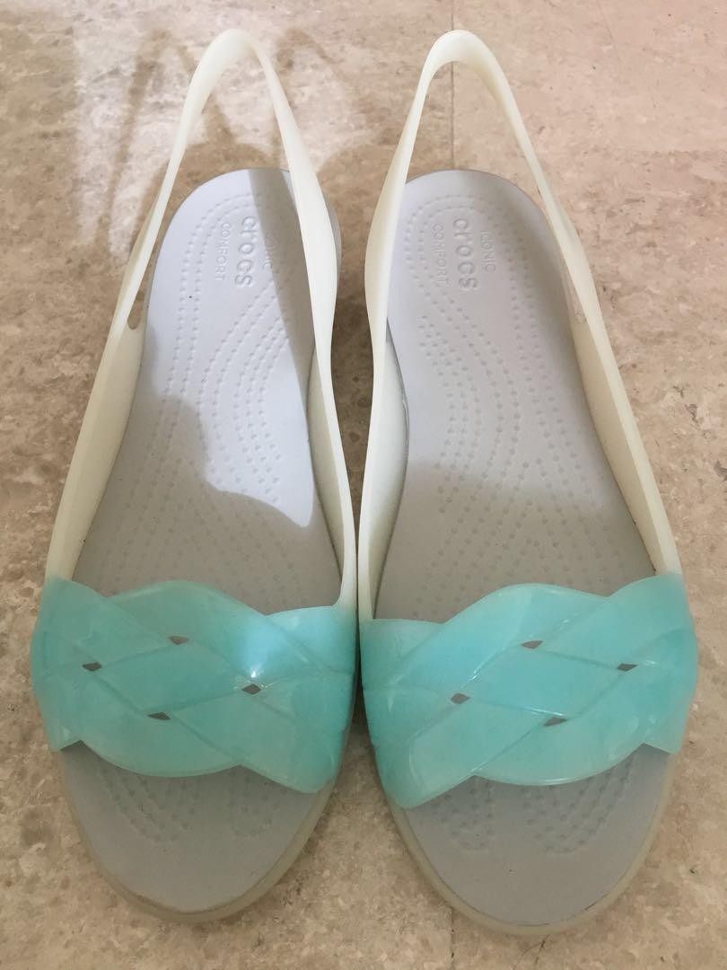 Crocs Isabella Slingback Pearl White