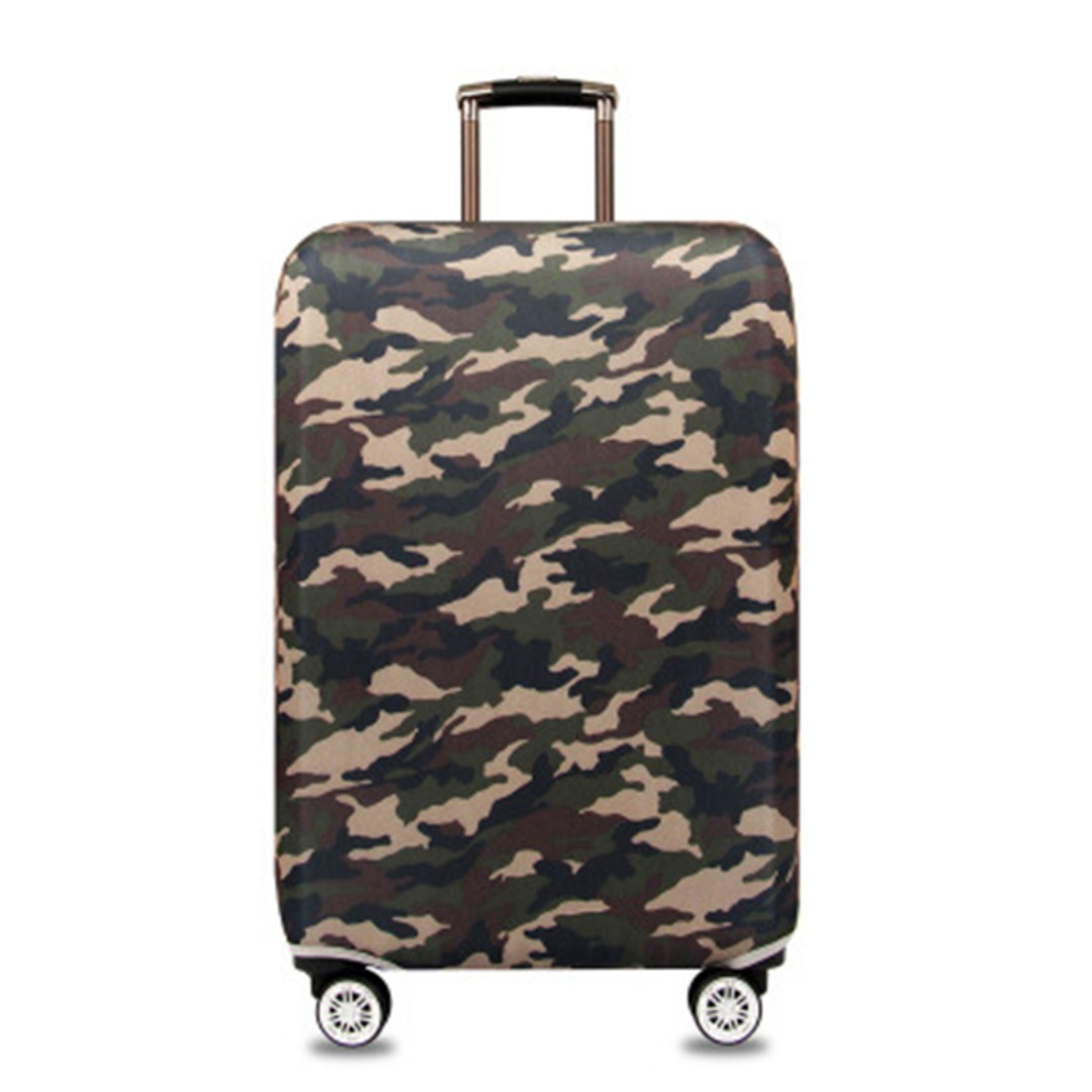 Elastic Travel Luggage Bag Protector Cover - Camouflage, Travel, Travel Essentials, Travel Accessories on Carousell