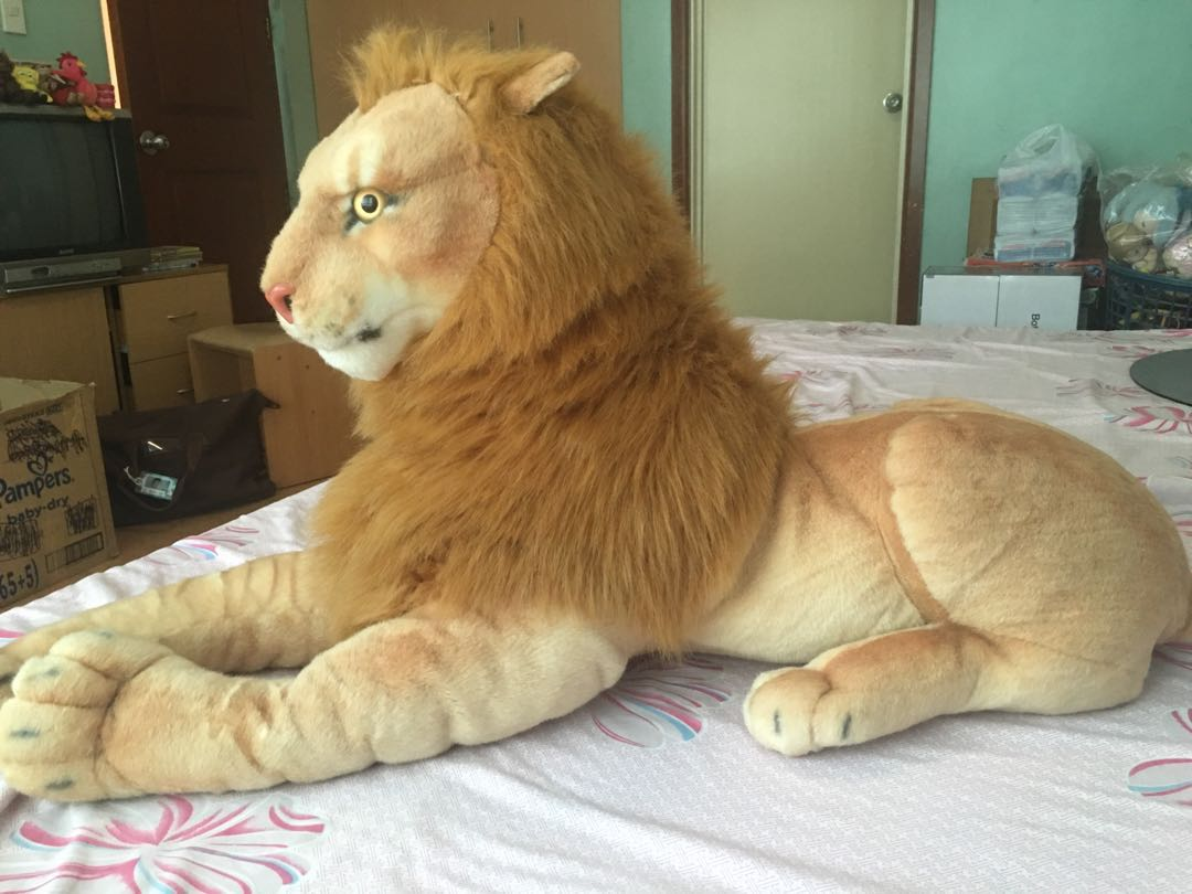 Giant Lion Stuffed Toy Toys Games Toys On Carousell