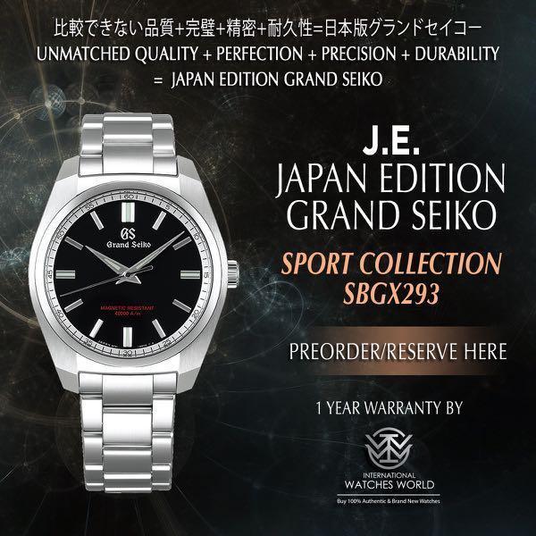 buy popular 6cba5 4a501 GRAND SEIKO JAPAN EDITION SPORT COLLECTION 9F QUARTZ ...