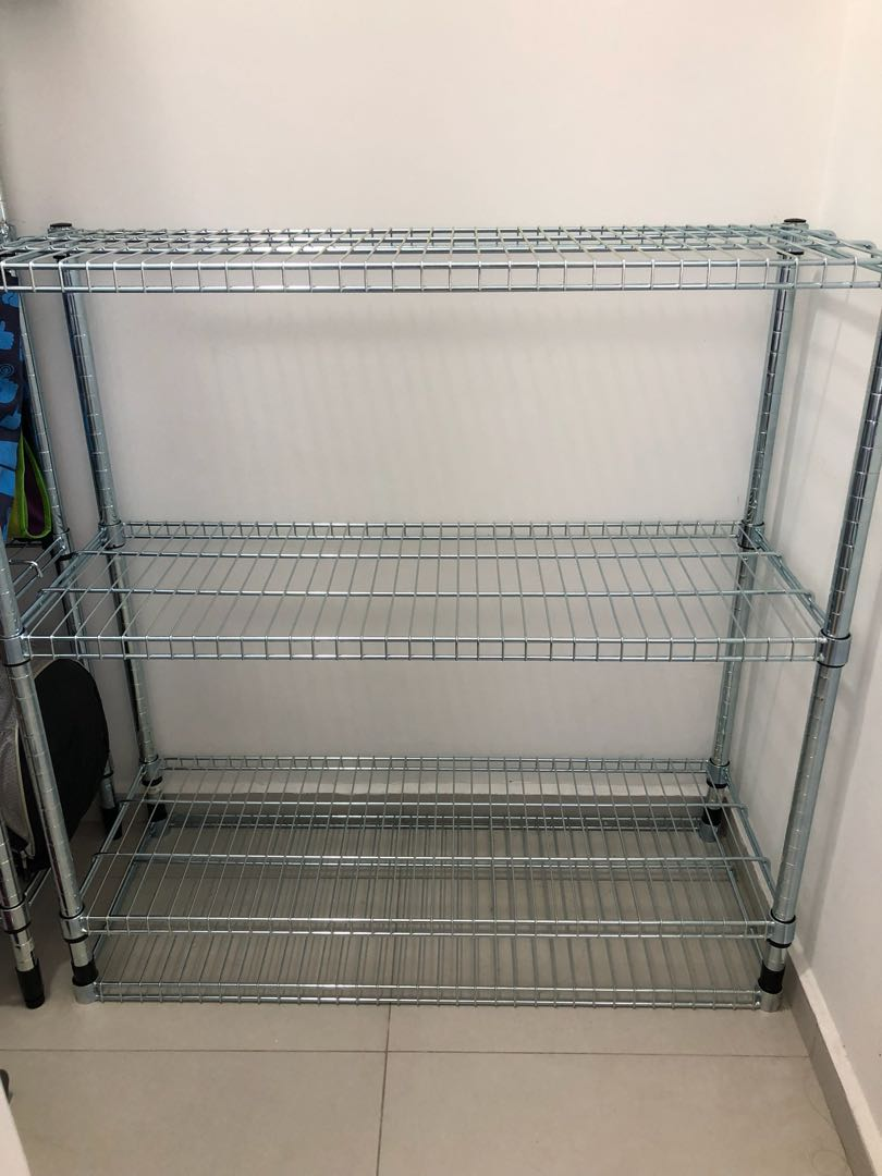 Ikea 3 Omar Stainless Steel Rack