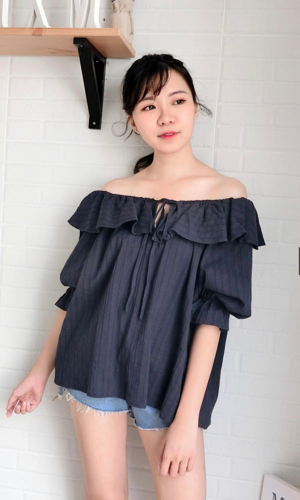 acd5d2981dd42b Login Source · INSTOCK Cotton Ruffles Off Shoulder Blouse Women s Fashion
