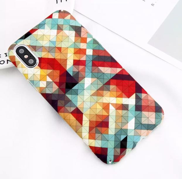 f0b0206ab6b8d iPhone XS / XR / XS MAX - geometric colour case
