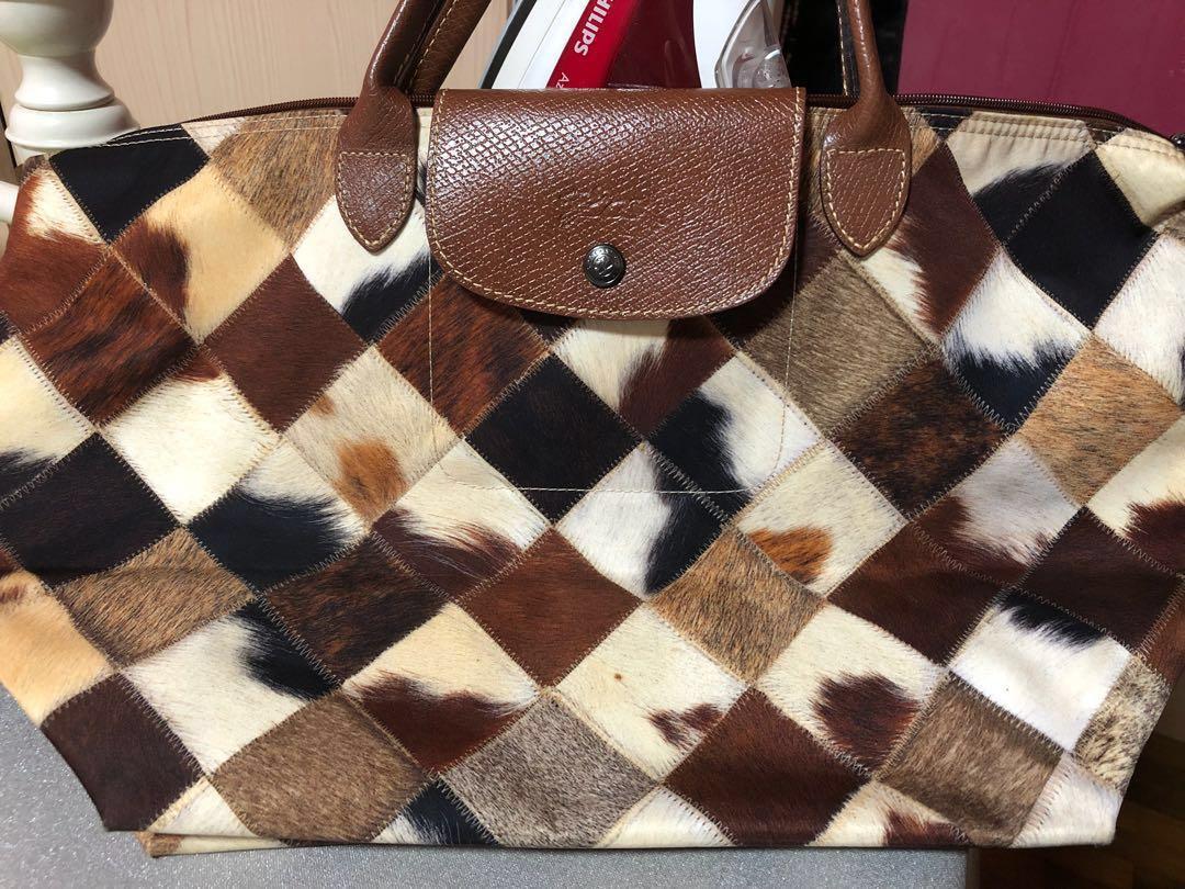 69de672345 Longchamp Le Pliage Medium Pony Animal Print Tote Bag