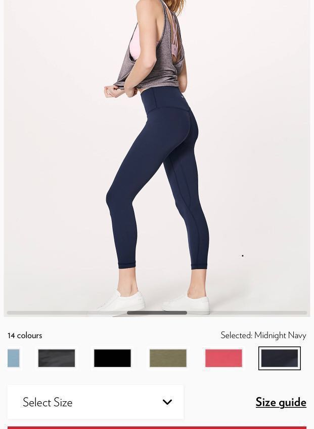 4dda3e6da8 Lululemon Align Pant ll - Midnight Navy , Sports, Sports Apparel on ...