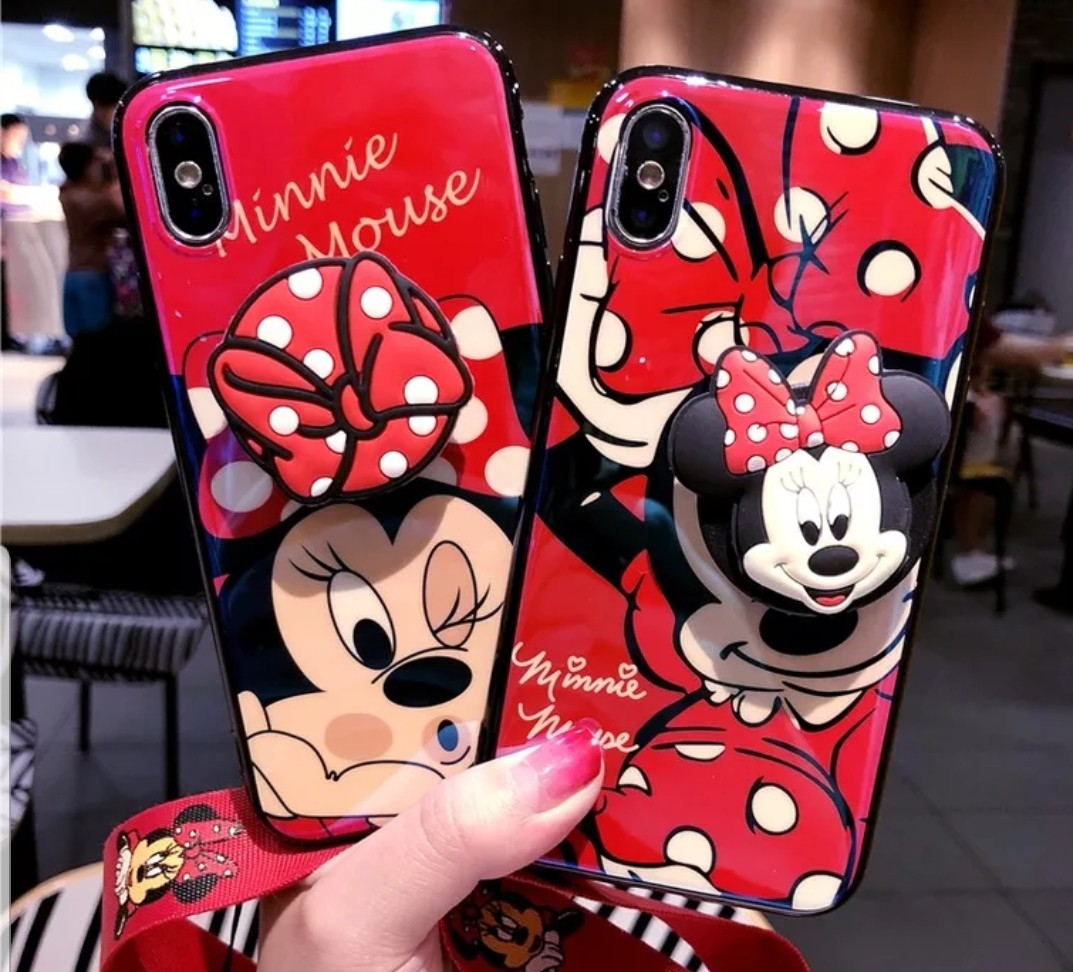 new product 88f40 64f74 Minnie Mouse iPhone Case with pop socket