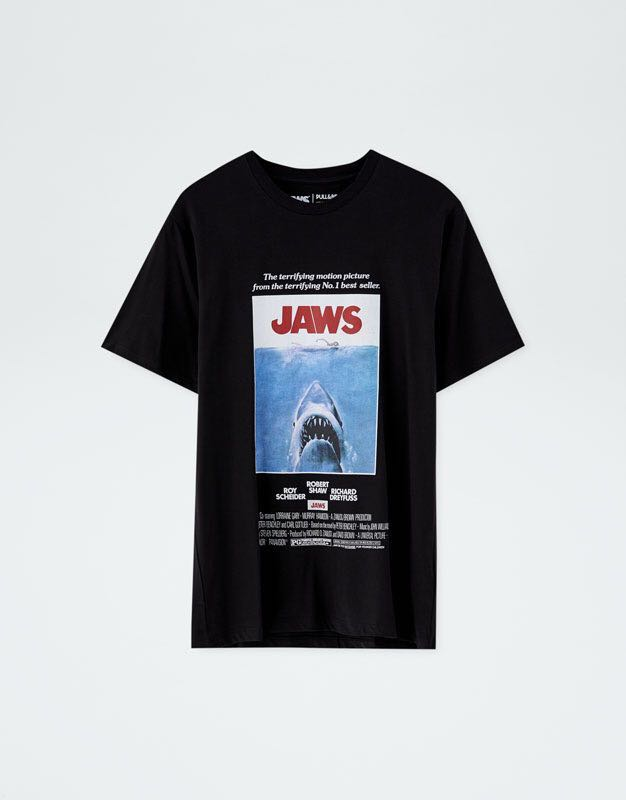 bd099b36 Pull & Bear Jaws T-Shirt, Men's Fashion, Clothes, Tops on Carousell