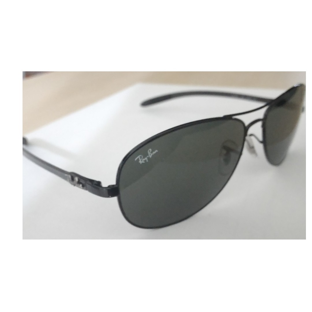 c3b6c28a7 RB8301 - 002 Authentic Ray Ban Tech Carbon Fibre Sunglasses, Men's Fashion,  Accessories, Eyewear & Sunglasses on Carousell