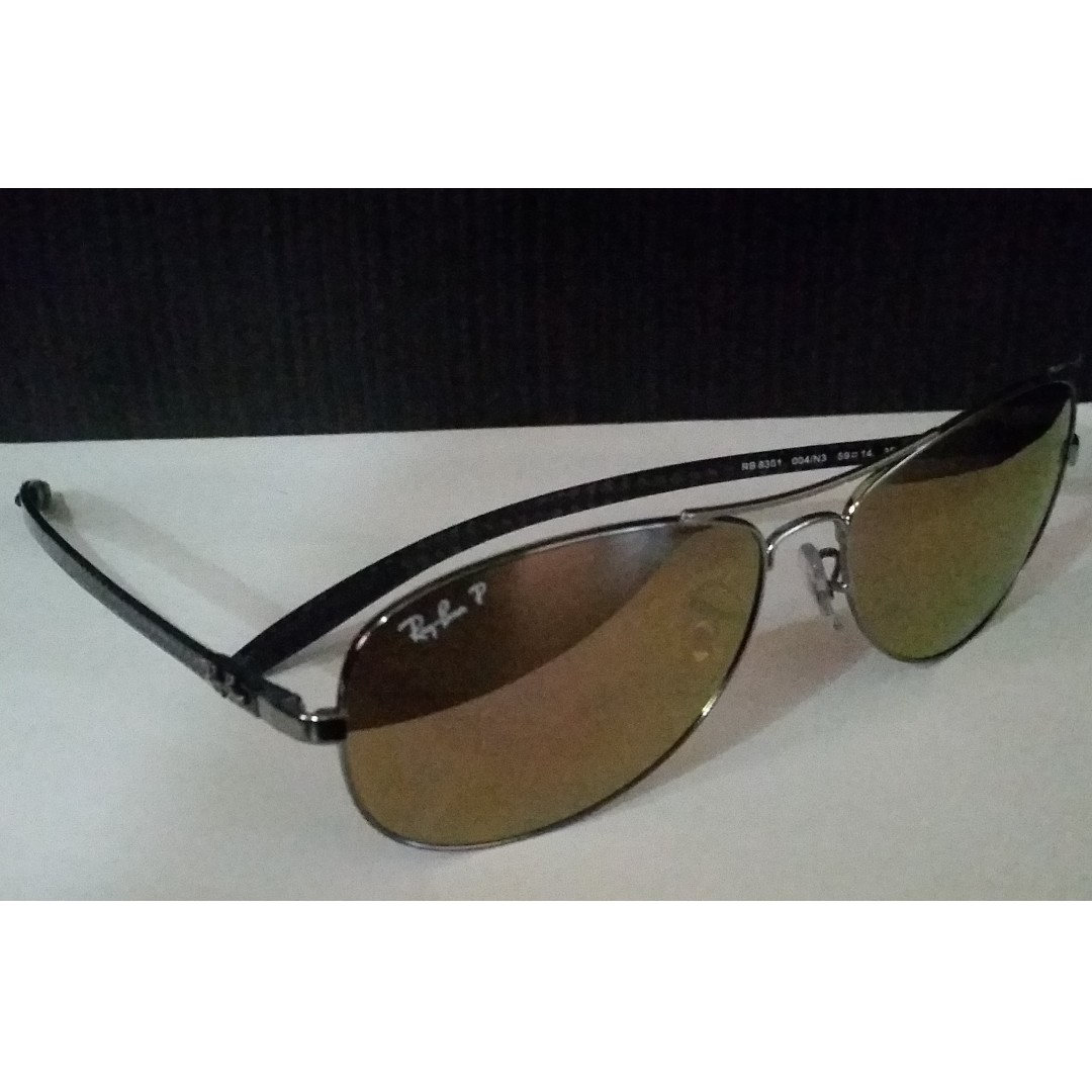4673eab45 ... sale rb8301 004 n3 authentic ray ban tech carbon fibre sunglasses  mirror polarized mens fashion accessories