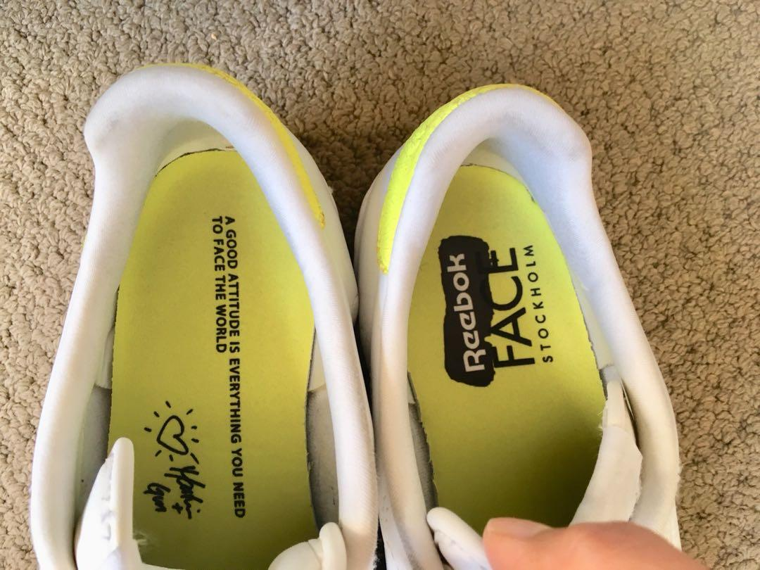 Reebok white sneakers size 37.5