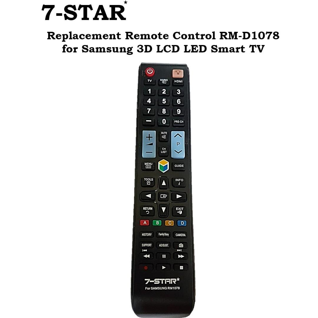 Replacement Samsung TV Remote Control Universal Remote Control for Samsung 3D LCD//LED TV