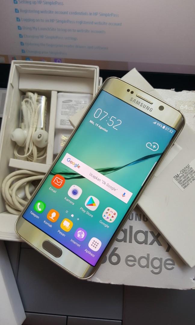 SAMSUNG GALAXY S6 EDGE 64GB GOLD EX RESMI Elektronik Telepon