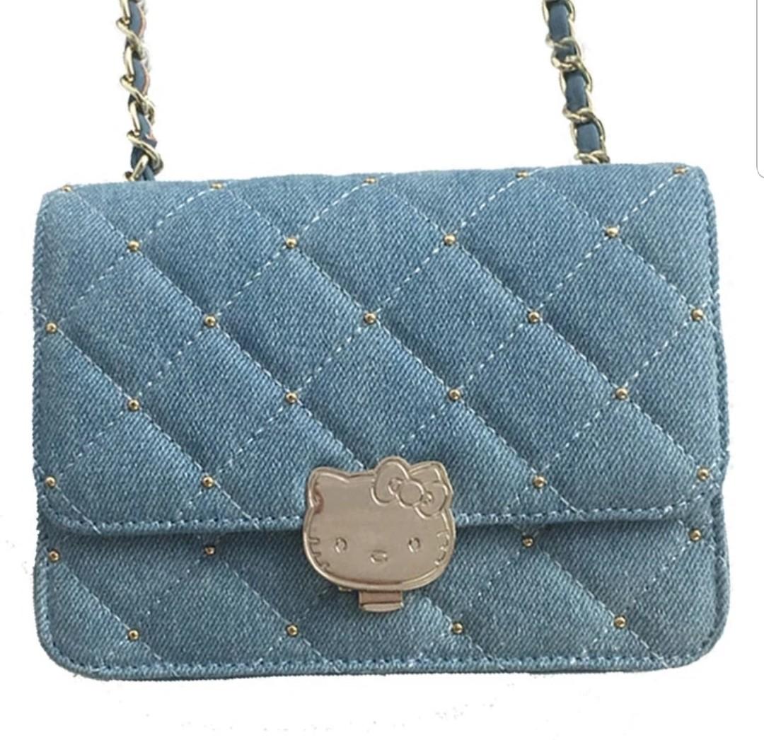 131253b71 Sling Bag : Hello Kitty Denim 2, Women's Fashion, Bags & Wallets ...