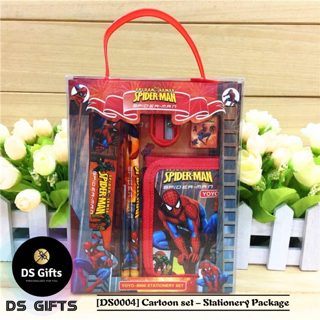 6 in 1 stationary set red Spiderman