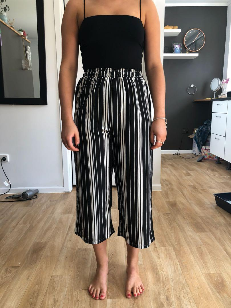 Stripped flared pants