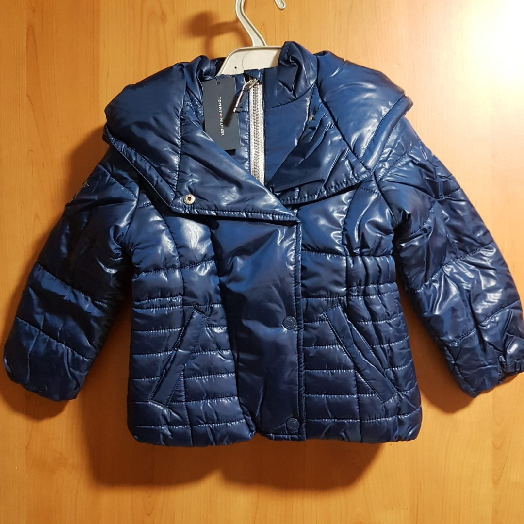 88d50247 Tommy Hilfiger Hooded Puffer Jacket, Babies & Kids, Girls' Apparel ...