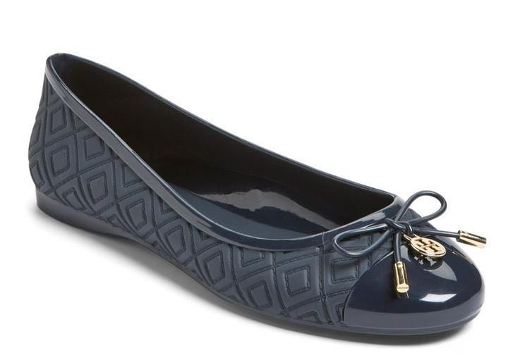 5227edf9f46f Tory Burch Jelly Ballet Flats - Navy
