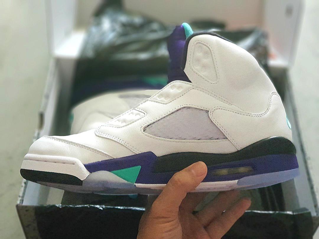 3bff7e5286e534 US 8.5 Nike Air Jordan 5 Grape Fresh Prince