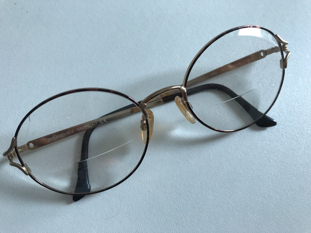 b8c7a92697 Ysl Gold Brown thin prescription Glasses