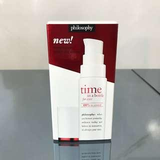 Brand New Philosophy Time In A Bottle 100% In-control Resist Renew Repair Eye Serum