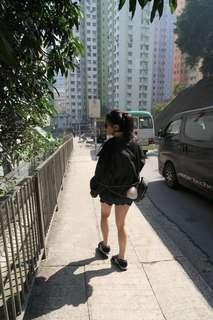 歐美復古高腰顯瘦花瓣褲裙毛邊側開叉防走光包臀牛仔半身裙A字裙彈力裙