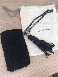 Brand new Anteprima pouch with chain and tassel