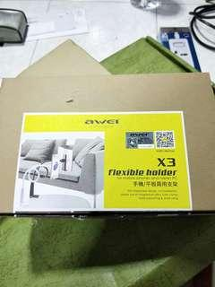 Awei flexible holder for mobile phones and tablet