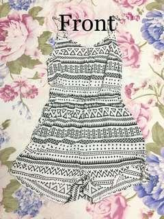 Black and white Aztec style H&M Romper