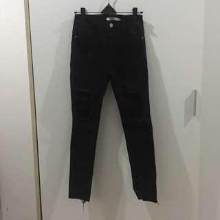 Ripped jeans black jaring