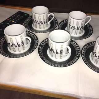 Espresso 特濃咖啡杯套裝(內有5套) - 送儲存盒