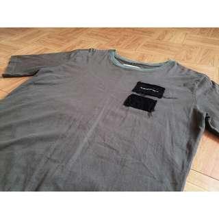 🚚 Black flag 軍裝剪裁短袖T恤