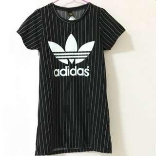 💖 Adidas Striped Black Tshirt Dress 💖