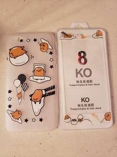iPhone 7 plus / 8 plus Case 蛋黃哥 手機套 + 玻璃貼