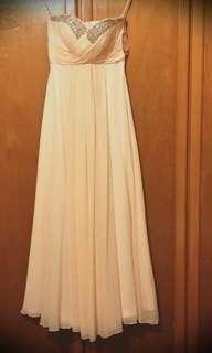 #H&M50 WORN ONCE : Gala Night / Annual Dinner gown ; pink ; small size ;tube cutting