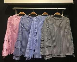 PINK Stripe Blouse BYAIRAABECLASSY #DeclutterWithFatin