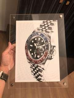 Rolex GMT master II advertisement acrylic poster pepsi