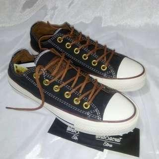 Sepatu Converse All Star Low Black Tan