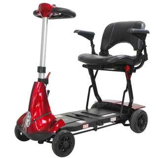 Solax Mobie S Electric Power Scooter ( 4 Wheeled ) Red