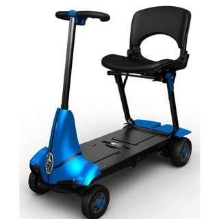 Solax Mobie S Electric Power Scooter ( 4 Wheeled ) Blue