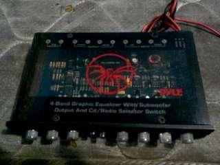 (Power Amp)4 band graphic equalizer  for subwoofer