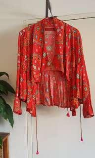 Tigerlily Universe jacket in red-size 6