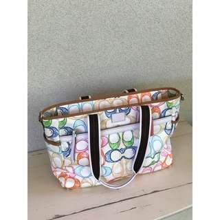 Coach Scribble Multicolour C Multifunctional Baby Diaper Bag Tote