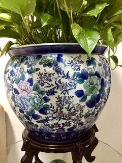 Vintage Floral Jardiniere