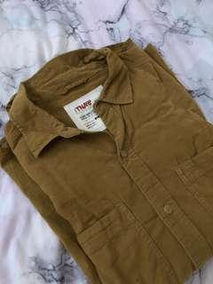 aritzia tna corduroy flannel size m