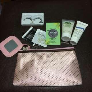 Make up bag with trial size items