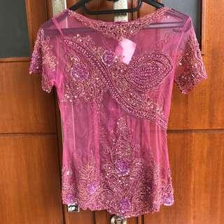 Kebaya Pink Payet Mewah