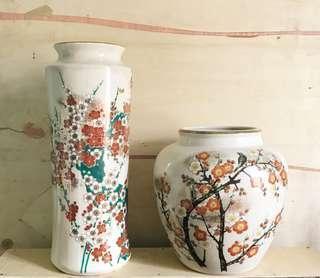 Ceramics Vase with Cracked Design