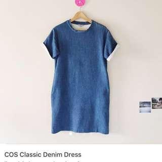 COS Denim Pocket Shift Dress Cosstore